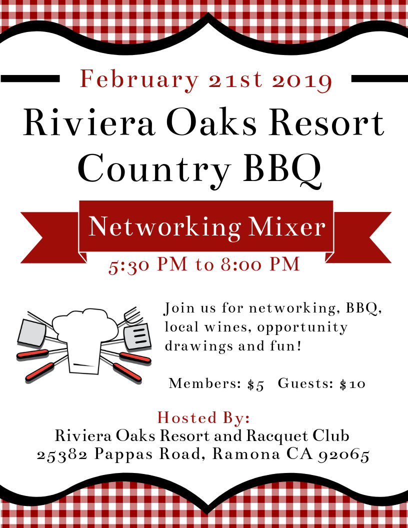 February 2019 Networking Mixer Flyer Riviera Oaks