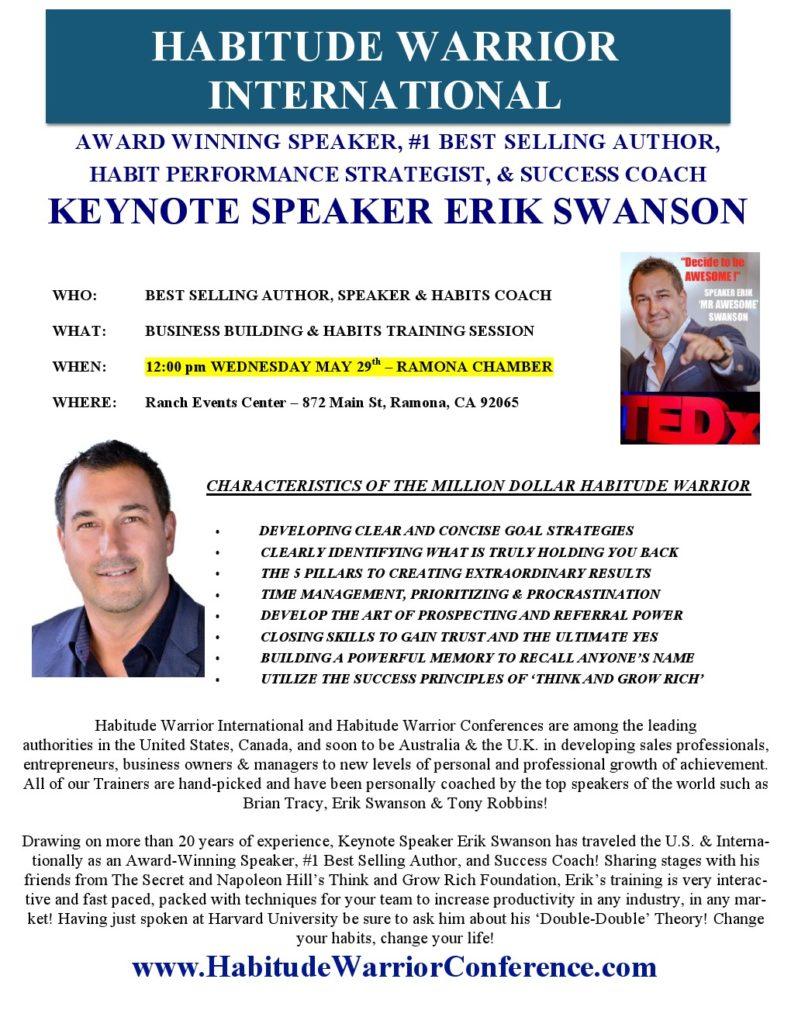 Habitude Warrior International LWW Erik Swanson