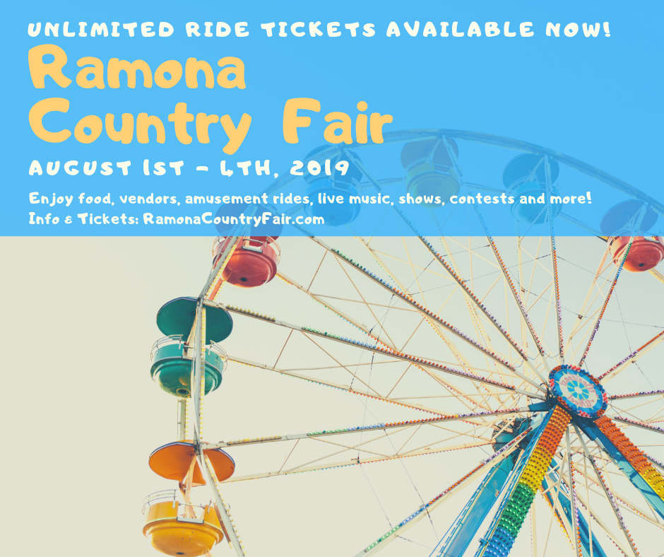 Ramona Country Fair 2019 presale tickets through 7-31-2019