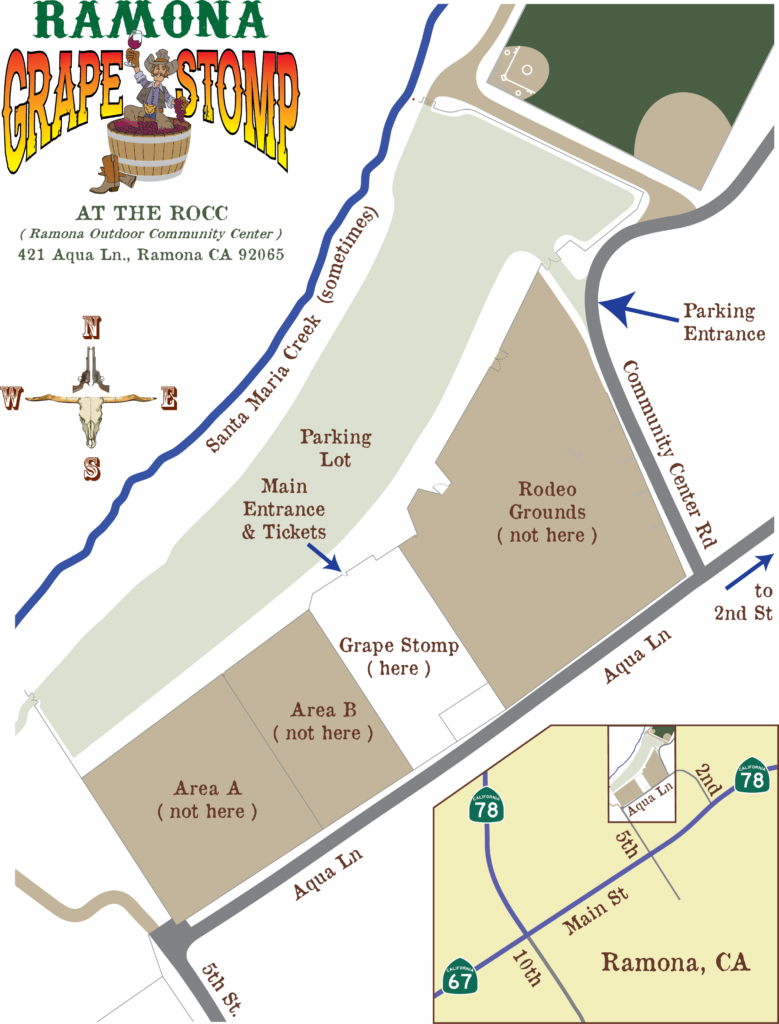 Ramona Grape Stomp Map