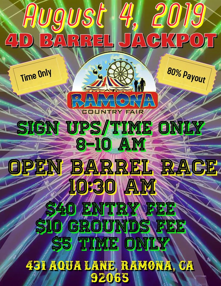 4D Barrel Racing at Ramona Country Fair