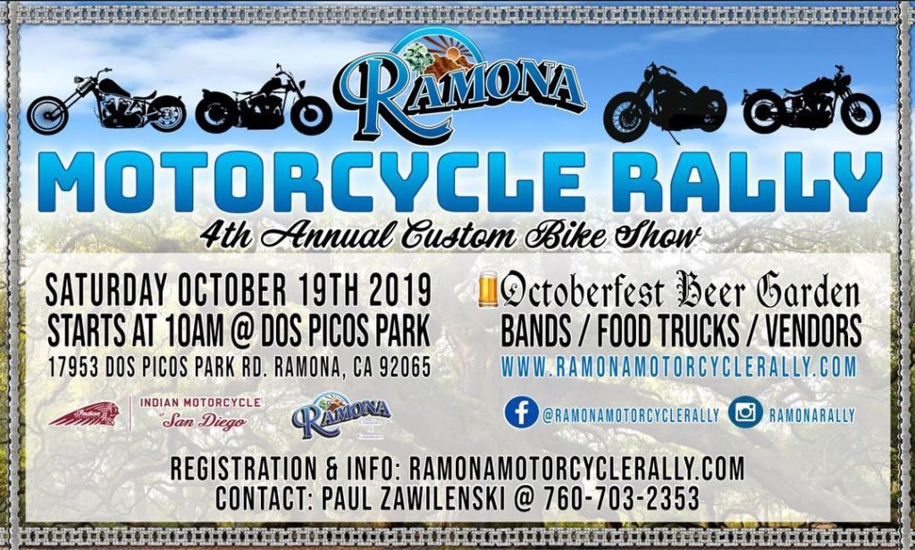 Ramona Motorcycle Rally 2019
