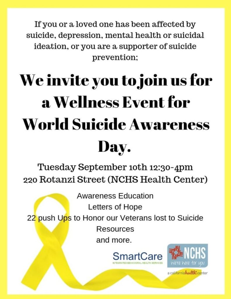 World Suicide Awareness Day NCHS
