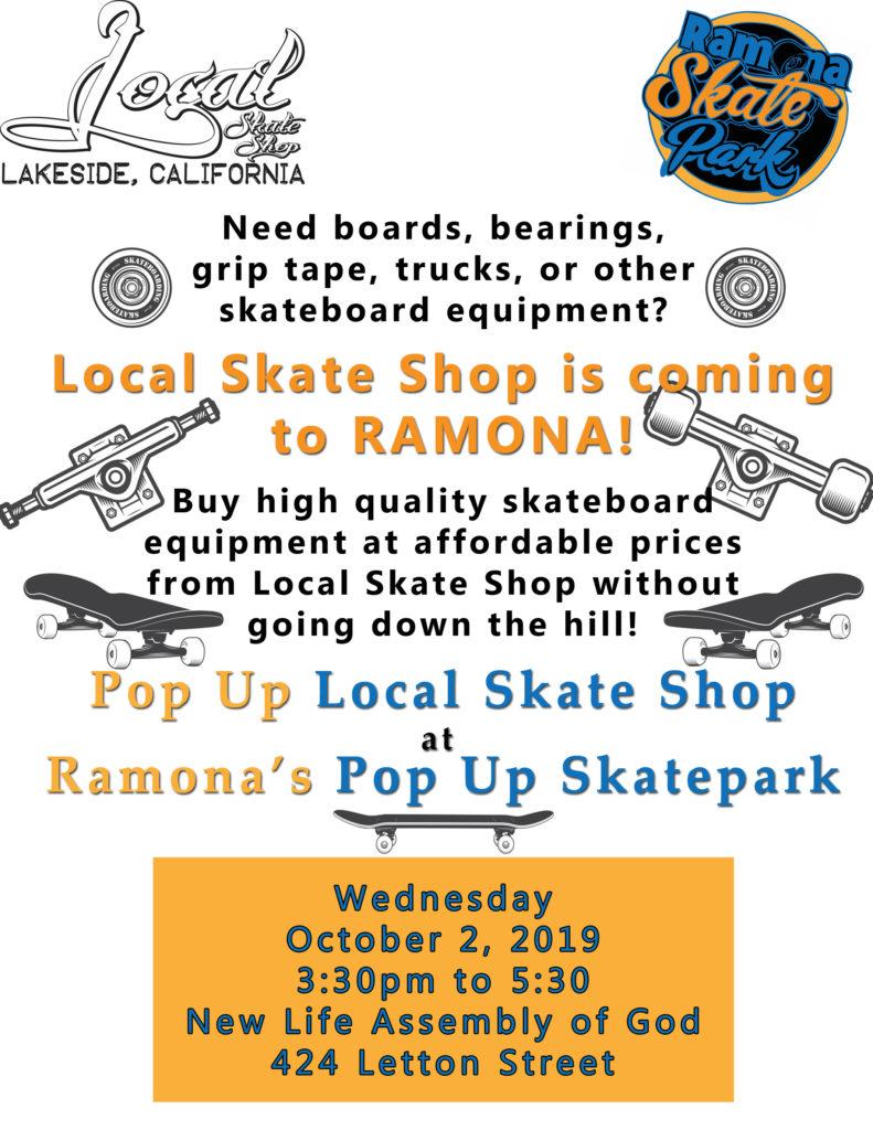 Pop Up Skate Shop in Ramona