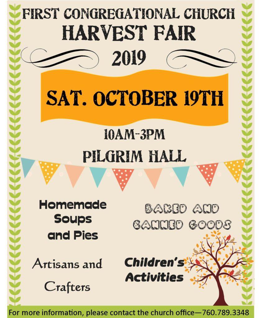 Harvest Festival First Congregational Church