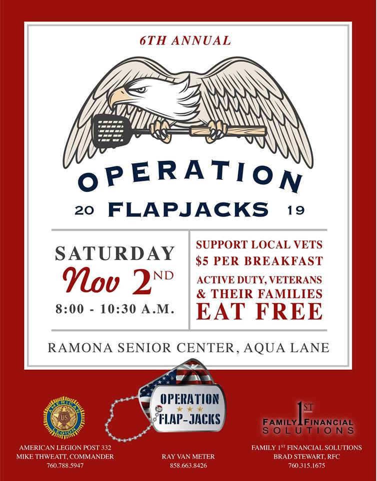 Operation Flapjacks Ramona Senior Center