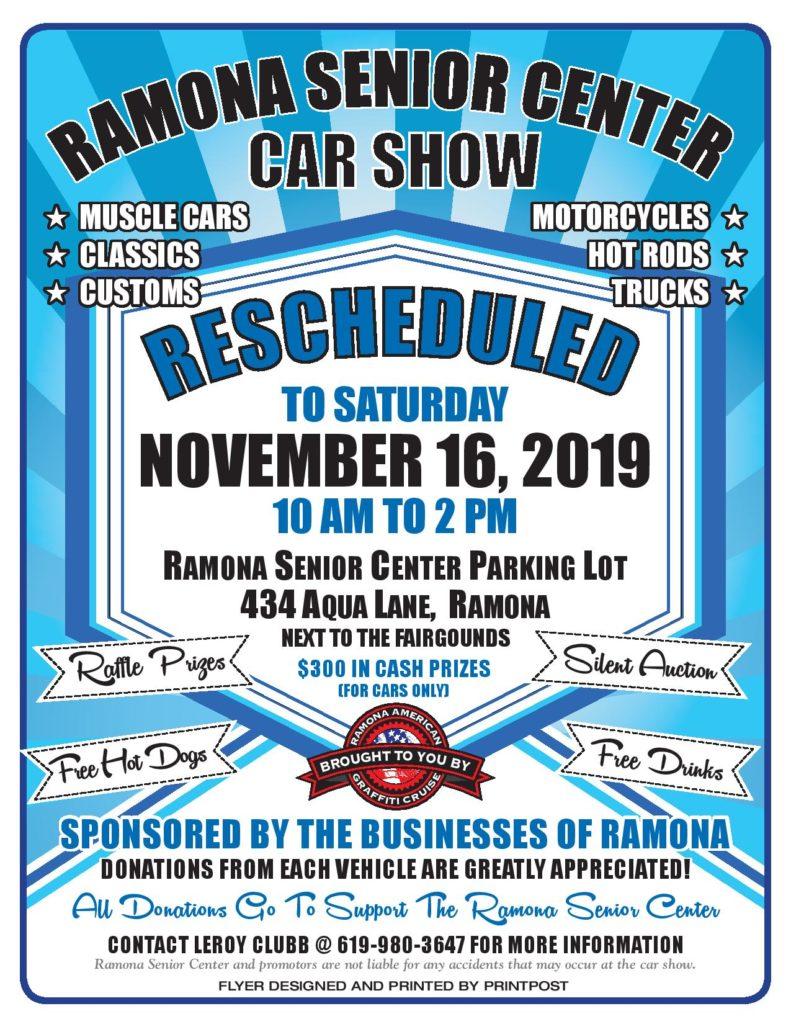 Ramona Senior Center car show