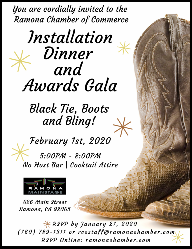 Ramona Chamber Installation Dinner and Awards Gala