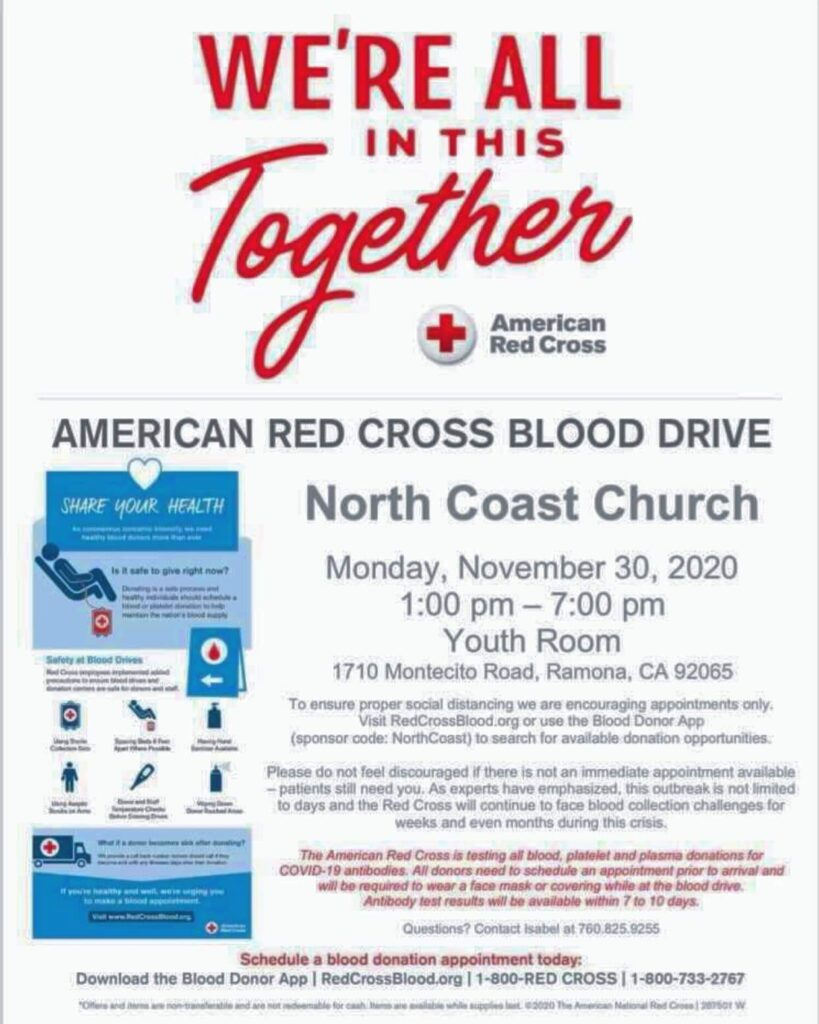 North Coast Church Blood Drive