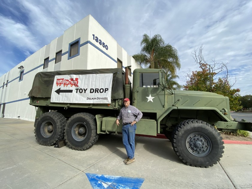 Delkin Devices Poway Toys for Tots Collection Drive