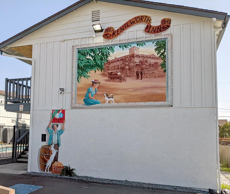 Kenilworth Inn Vignette Mural at Ramona Valley Inn