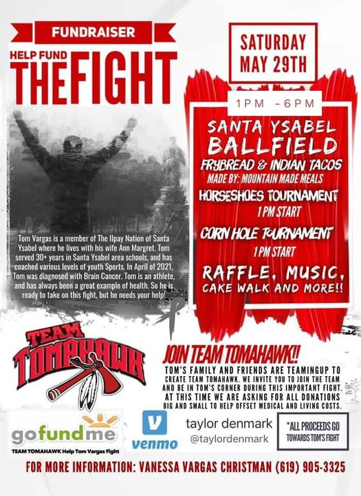 Santa Ysabel Ballfield fundraiser for Tom Vargas