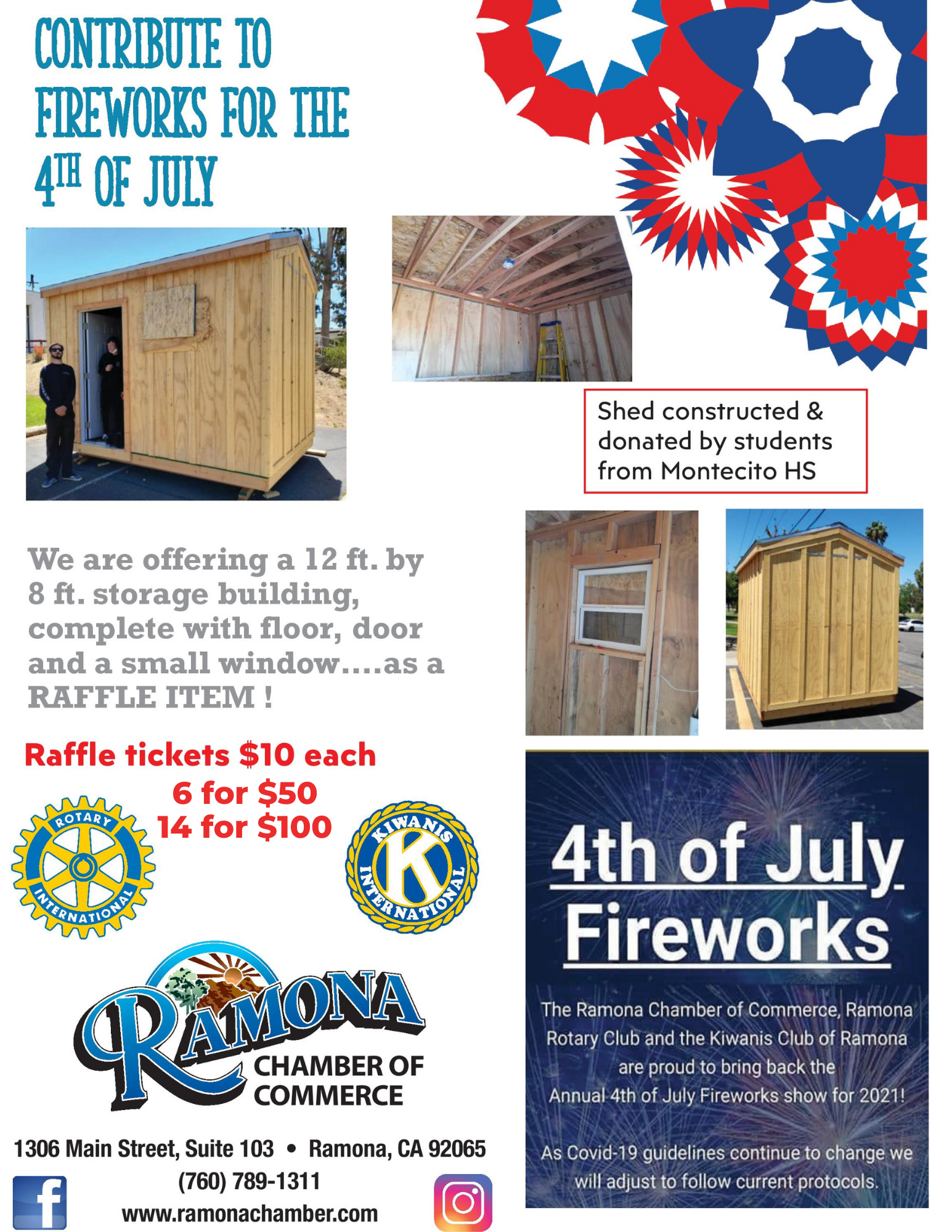 National Day of the Cowboy 2021 - shed raffle donations go to Ramona Fireworks