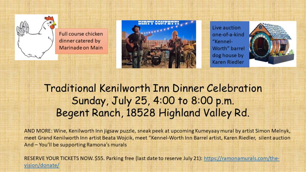 Ramona HEART Mural Project Kenilworth Inn Dinner Celebration