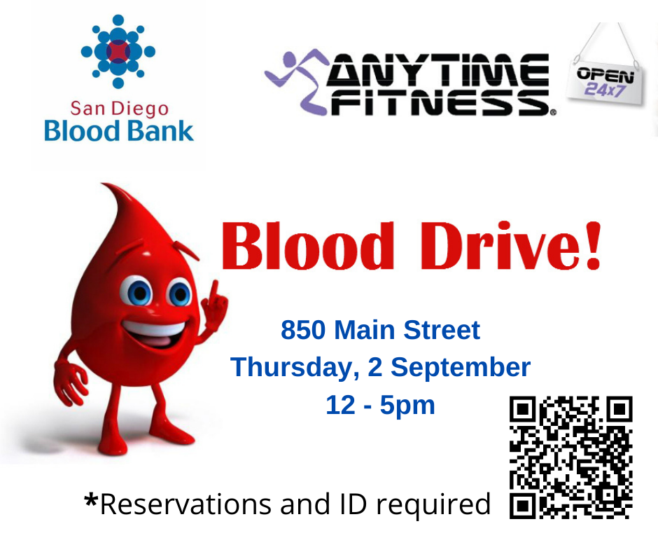 Anytime Fitness Blood Drive Sept 2 2021